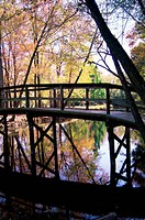 Footbridge at Silver Lake Park, Dover, Delaware, USA