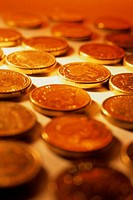 Close_up of coins