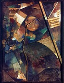 SCHWITTERS: MERZBILD, 25A.Collage, 1920, by Kurt Schwitters.