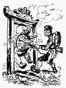 JAPAN: MANCHURIA, 1931.'The Open Door.' American cartoon by Oscar Edward Cesare, 1931, on Japan's seizure of Manchuria and disregard for the Kellog-Br...