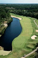 Aerial view of a golf course, Jacksonville, Florida, USA