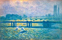 MONET: CHARING CROSSBridge, London. Oil on canvas, 1901-04.