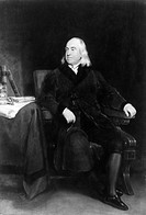 JEREMY BENTHAM (1748-1832).English philosopher. Oil on canvas, 1829, by Henry William Pickersgill.