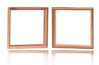 double wood frame on white reflection