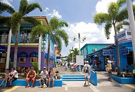Tourists shopping area of Heritage Quay in St Johns , Antigua