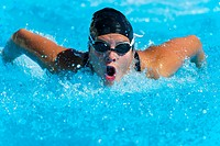 A swimmer doing the Butterfly stoke