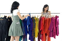 Women choosing clothes in a clothing store (thumbnail)