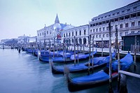 Gondolas, near St Mark's Square, Venice, Italy