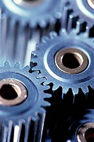 Close_up of gears