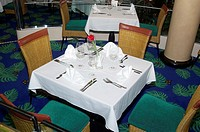 Table appointments of restaurant Salsa Norwegian Dawn Cruise