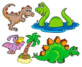 Various dinosaur collection _ isolated illustration.
