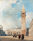 BONINGTON: VENICE.Richard Parkes Bonington: Piazza San Marco at Venice. Oil on canvas, 1827-28.