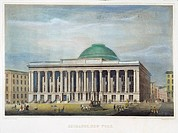 NY STOCK EXCHANGE, 1850.Steel engraving, 1850.