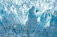 Close_up of ice formations at the edge of a glacier, Margerie Glacier, Glacier Bay, Alaska, USA