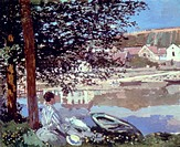 MONET: BENNECOURT, 1868.Claude Monet: On the Seine at Bennecourt. Oil on canvas, 1868.