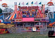 Food stand at a carnival, Tennessee, USA