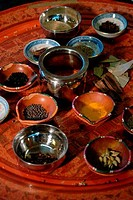 Close_up of spices in bowls