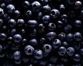 High angle view of blueberries