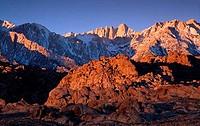 Mount Whitney Alabama Hills California USA