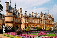 Facade of a mansion, Waddesdon Manor, Waddesdon, England
