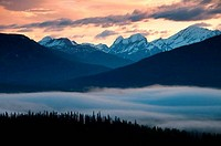 Clouds over a mountain range, Slate Range, Lake Louise, Banff National Park, Alberta, Canada