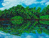 Summer Reflections 2004 Todd Muskopf b.20th C. American Oil on panel