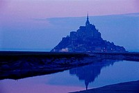 Abbey on an island, Mont_Saint_Michel, Normandy, France
