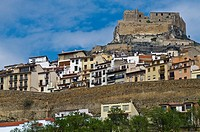 Panoramic view of Morella village  Castellón  Spain