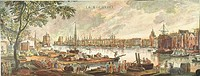 FRANCE: LA ROCHELLE, 1762.View of the harbor of La Rochelle, France. Copper engraving, 1767, after a painting, 1762, by Joseph Vernet.