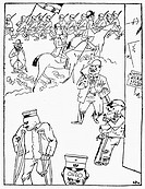 GERMANY: CARTOON, 1921.'Postwar Idyll.' Satirical drawing, 1921, by George Grosz.