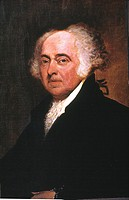 JOHN ADAMS (1735-1826)Oil on canvas, 1798 and 1815, by Gilbert Stuart.