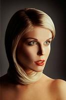 Beautiful woman. Fashion art photo. Close_up makeup