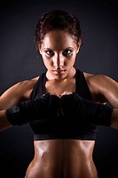 beauty boxer girl portrait