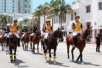 Parade of Miami Beach Polo team 2011, Florida, USA