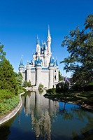 Cinderella's Castle in the Magic Kingdom at Disney World, Kissimmee, Florida