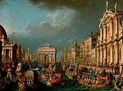 L´arrivo di Napoleone a Venezia 1847 Giuseppe Borsato 1770_1849 Italian