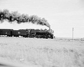 USA, Arkansas, steam train heading towards Little Rock