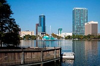 Downtown Orlando Skyline from Lake Eola
