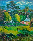 Landscape, painting by Paul Gauguin, 1901, France, Paris, Musee de L´Orangerie