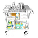 A 3D style image medical supplies on a trolley