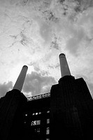 UK, London, Battersea, North face of Battersea Power Station