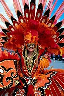 Trinidad, Port Of Spain, Carnival, Parade Of Bands, Woman In Costume