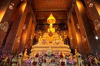 Interiors of a temple, Wat Pho, Bangkok, Thailand