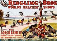 The Lorch Family _ World´s Greatest Acrobats, Ringling Brothers Barnum and Bailey Circus, poster