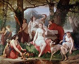 Diana´s Bath Louis Devedeux 1820_1874 French
