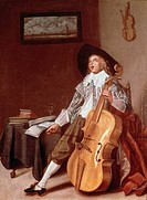The Cello Player Dirck Hals 1591_1656 Dutch Wallraf_Richartz Museum, Cologne, Germany