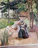 Scene In Garden by Henri Charles Manguin, 1874_1949