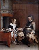 The Gallant Soldier Gerard ter Borch 1617_1681 Dutch Musee du Louvre, Paris, France