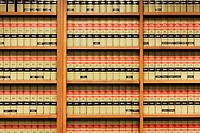 Shelves of Law Books
