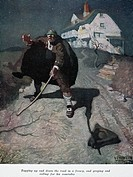 TREASURE ISLAND, 1911.'Old Pew.' Illustration by N.C. Wyeth from a 1911 edition of Robert Louis Stevenson's 'Treasure Island,' originally published in...